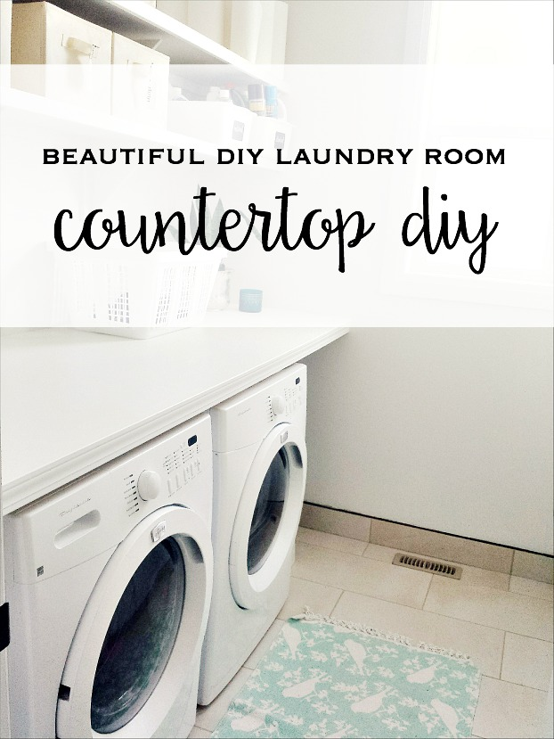 Our Huge Diy Laundry Room Counter Top