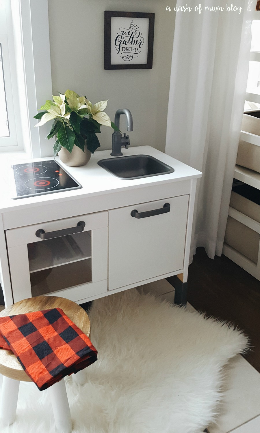 Makeover the Ikea Duktig play kitchen with this simple DIY by A Dash of Mum Blog