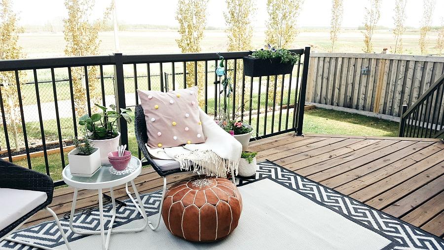 Boho Inspired Backyard Patio Makeover (On A Budget) | The ... on Backyard Patio Makeover id=26995