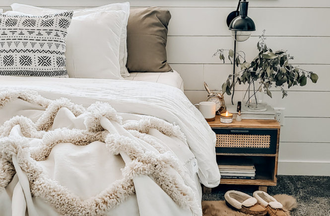 Boho Inspired Neutral Master Bedroom Tour The Blush Home A Home Lifestyle Blog