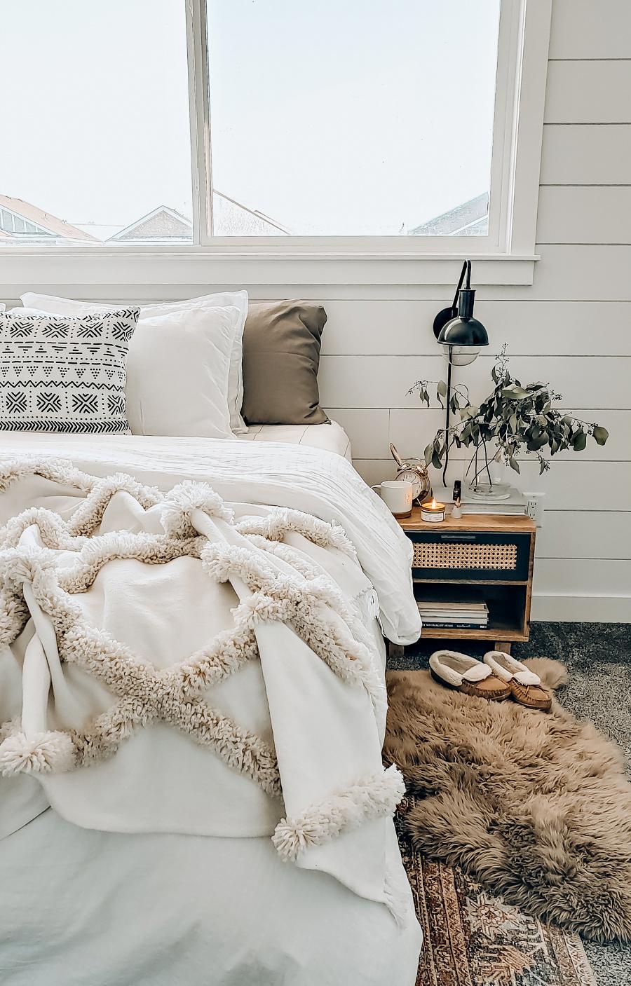 Boho Inspired Neutral Master Bedroom Tour The Blush Home
