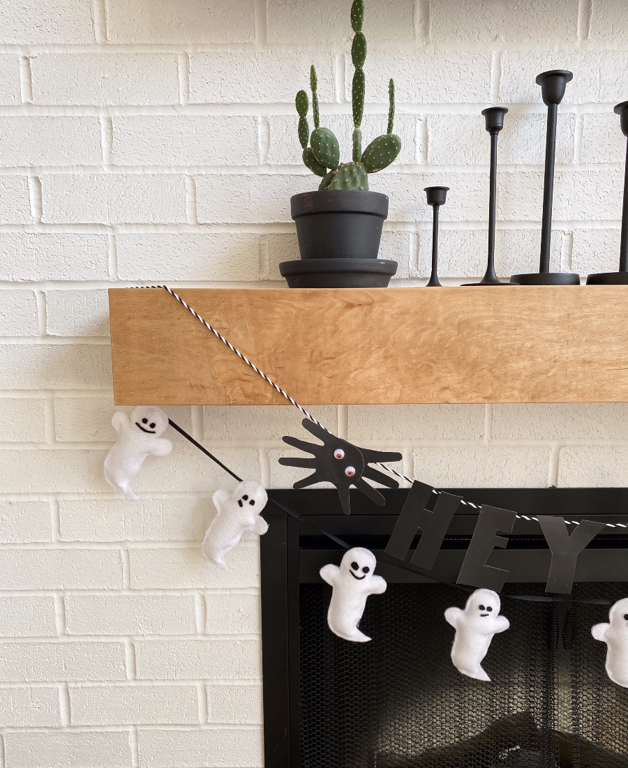 Diy Ghost Garland Halloween Decor The Blush Home